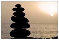 elements (micagoto) Tags: ocean sunset water topv111 zen elements christianity canaryislands contemplation lagomera vallegranrey steinpyramide kontemplation argayall d7000