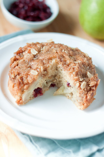 Pear-Cranberry Streusal Kuchen