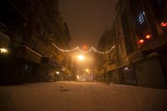 Chinatown snow, 1-26-2011 (Dan Nguyen @ New York City) Tags: newyorkcity winter snow cold ice night chinatown manhattan snowstorm gothamist littleitaly blizzard snomg snowloko