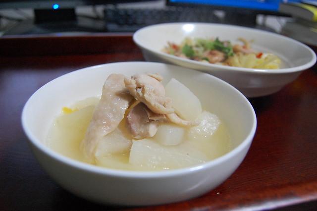 料理部長におしえてもらった鶏大根ゆず入り。 #jisui