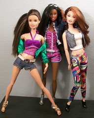 Teresa, Nikki and Drew (fashionisto2k) Tags: fashion dolls nikki barbie drew redhead spanish teen latin teresa latino hispanic latina sis brunette basics mattel fever fashionistas blackbarbie fashionfever aabarbie barbieaa