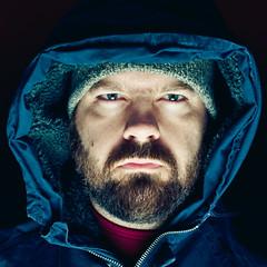 4/52 - Sinister (Micah Taylor) Tags: dark beard evil hood dexter maniacal sockhat