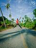 (Stromboly) Tags: road sky beach up carretera retrato playa nubes jumpsaltar