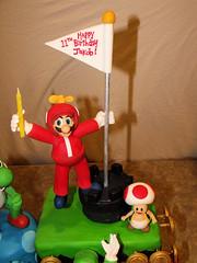 mario cake 3 (Cake Rhapsody) Tags: birthday game mushroom cake bowser geek flag nintendo tubes mario sugar gamer toad luigi yoshi geeky goomba supermario fondant koopa goldcoins sugarart princesspeach piranhaplant mariobroswii barbaranngarrard cakerhapsody