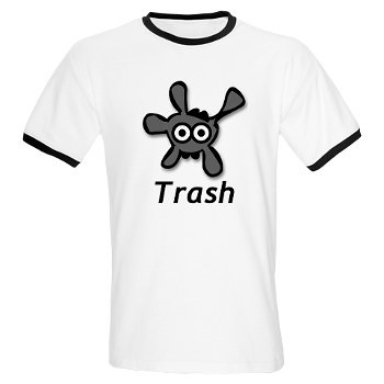 Men's Ringer T-Shirt - Trash