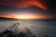 . (Dan. D.) Tags: ocean sunset sea sky cloud seascape water landscape dawn dusk reef sunraise caraibe nohdr