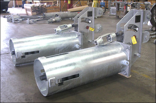 100-C Constant Spring Supports with Double Lug Suspension and Chained Travel Stops for an Oil Refinery in Canada