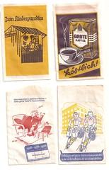 1960er Kaufladentüten Rückseiten