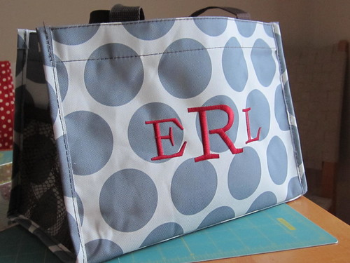 Polka-dotted tote