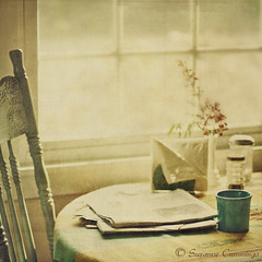 Morning Read (SLEEC Photos/Suzanne) Tags: morning stilllife window table newspaper chair antique textured breakfasttable saariysqualitypictures lesbrumestextures magicunicornverybest magicunicornmasterpiece flypapertexture truthandillusion