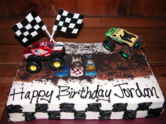 Monster Truck Cake (GRAMPASSTORE) Tags: birthday wedding baby cakes cookies cake shower cupcakes 3d cookie unique graduation baptism cupcake custom 2d grooms monstertruck monsterjam 1stcommunion
