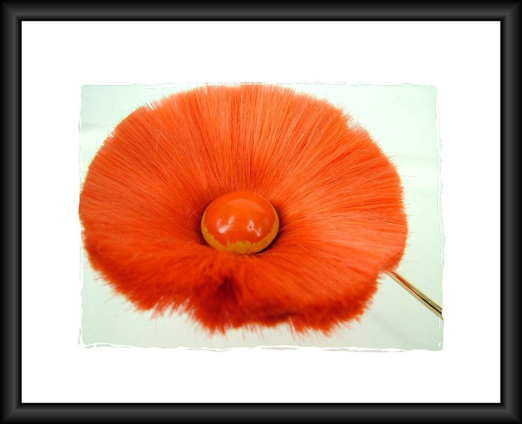 Hattie Carnegie Vintage Silk Flower Brooch
