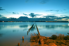 Saltern pond (Mat.Tauriello) Tags: sardegna longexposure nightphotography sea urban italy beach architecture night dark lights pond sand nikon mediterranean mediterraneo italia mare sardinia nightimages nightlights dunes salt images beaches nightshots reef saline spiaggia notte architettura cagliari sardinien salina coasts sabbia evaporation sardaigne cerdea 3100 nocturnes sardenya quartu sardigna salterns sardenha sardini cerdenya quartusantelena saltevaporationpond  nikon55200mmf456gedifafsdxvrzoom  sardinnia  salinedicagliari sardngia    d3100 nikond3100 pondofcagliari parconaturaleregionalemolentargiussaline