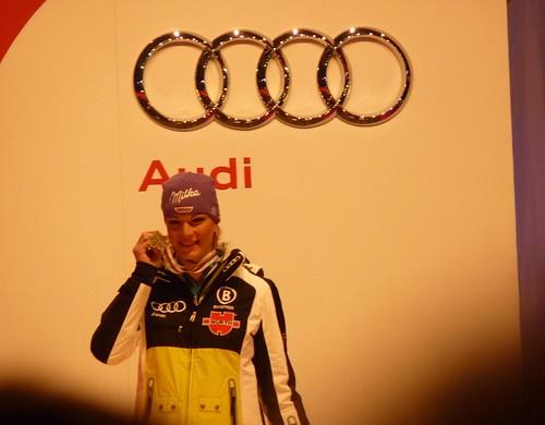 Siegerehrung SuperG Damen - Ski-WM 2011, Renntag 1