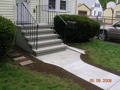 1. Precast steps with rails and walkway
