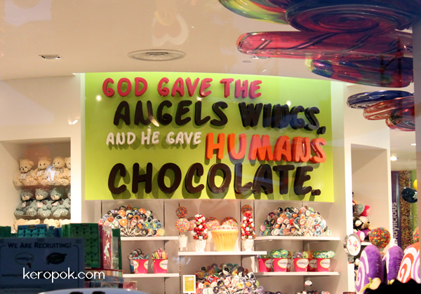 God Gave The Angels Wings, And He Gave Humans Chocolate.
