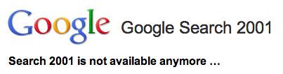 Google Search 2001