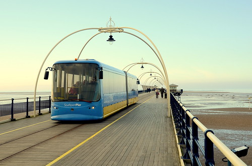 Tram Shuttle On Southport Pier