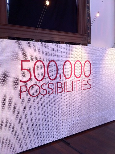 500 000 possibilities - but only 1 You.