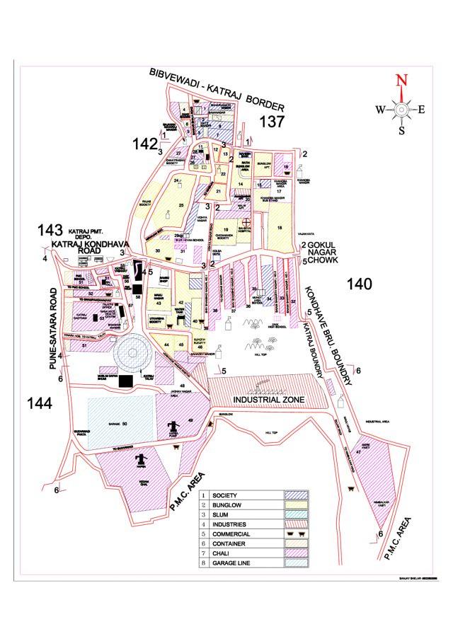 katraj ward map