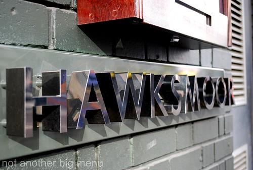 Hawksmoor, Spitalfields - Hawksmoor sign