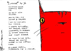 """comma"" - a poem by yo - yo & dude (eric Hews) Tags: copyright dog cats cute dogs television illustration cat puppy advertising daddy fun corporate virginia puppies kitten funny eric poetry dad artist comic poem employment drawing web father yo humor cartoon emo creative culture kitty funnies kittens philosophy pop richmond dude strip writer comicstrip mean illustrator haha choice toon simple behavior society comma sarcasm unemployment freelance sarcastic psychology 2011 ambivalent hews yodude erichewscom yoanddude erichews yodude 2011erichews ennuizle"