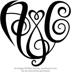 """A&C"" Heart Design"