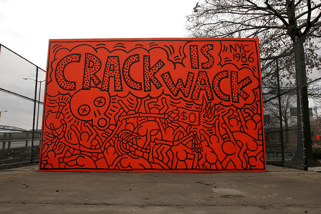 """R.I.P. Keith Haring - """"Crack Is Wack"""" Mural"""