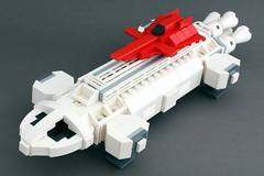 Space 1999 Eagle Transporter with Re-entry Glider (SPARKART!) Tags: lego eagle scifi spaceship alpha moonbase transporter starship space1999