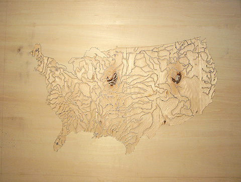 RiverMapCarved