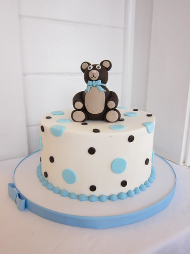 Teddy Bear Baby Shower Cake A Photo On Flickriver