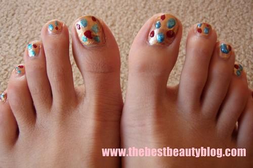 Australis, toenail art