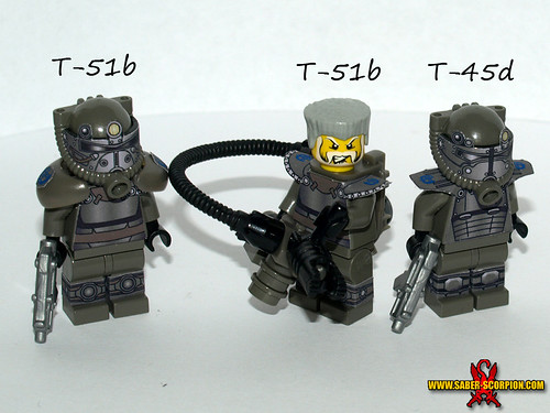 Custom minifig Fallout Brotherhood of Steel custom lego minifigures