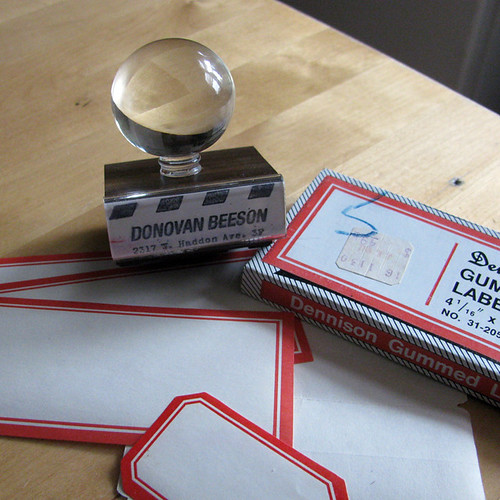 glass vintage rubber stamp labels rubberstamp officesupply dennison glasshandle glasshandlerubberstamp