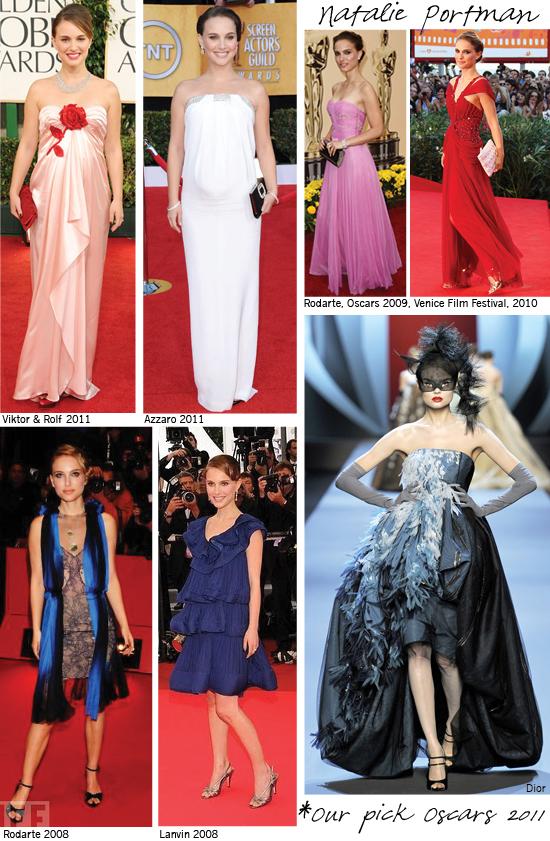 Natalie Portman, Red Carpet, Oscars, Dior, Rodarte, Lanvin, 2011