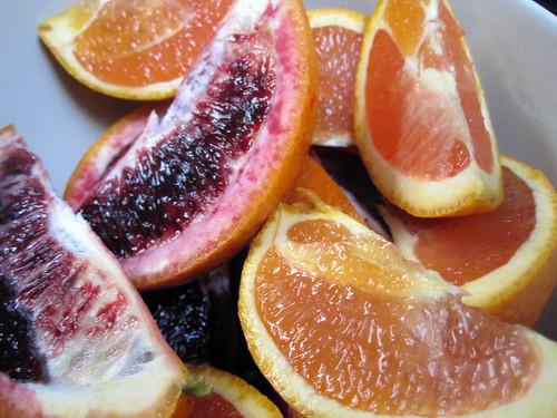 Blood oranges and Cara Cara oranges