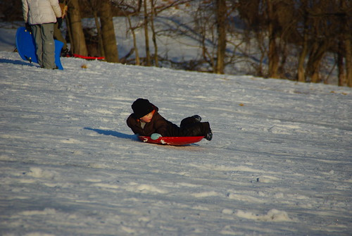 Sledding at Valley Forge