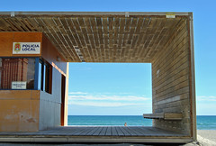 The Coolest Police Station in the World (Fotomondeo) Tags: sea espaa sun sol de la mar spain sand nikon san juan playa arena alicante d3000 gettyiberiasummer