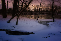 Evening falls (SolsticeSol) Tags: winter river twilight snow solsticesol landscape evening cold freezing tranquil magical wintery beautiful michigan michiganlandscape puremichigan frozenriver michiganwinter winterlandscape beautifulwinterimages winterscene dusk snowscene snowsnowsnow winterwinterwinter image images picture pictures tracks animaltracks tracksonsnow animalfootprints footprints serene sereneimages snowscape dark mysterious dreamy twilightimages twilightsnow atmospheric beautifulwinterscenes winterphotography peacefulwinterscenes peacefulwinterimages winterimages wintersunsets sunsetimages michiganwinterimages wildlife nature natureimages naturescenes snowimages prettysnowscenes magicalandatmospheric coldwinterday imagesofsnow dreamyimages riverimages sunsetsnowimages