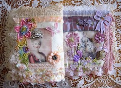 Marie's Tissu Che'rit Le Journal (terri gordon) Tags: lace ribbon marieantoinette clothbook