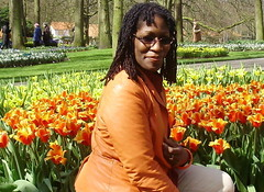 Orange Lady Amongst The Orange Tulips In Spring by Phylise Purdie (Visit Holland) Tags: flowers spring tulips tulip justbe readyforspring visitholland