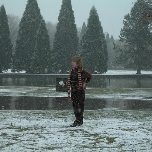 Russell & a snowball
