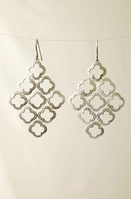 Stella Dot - Signature Clover Chandelier Earrings - Silver