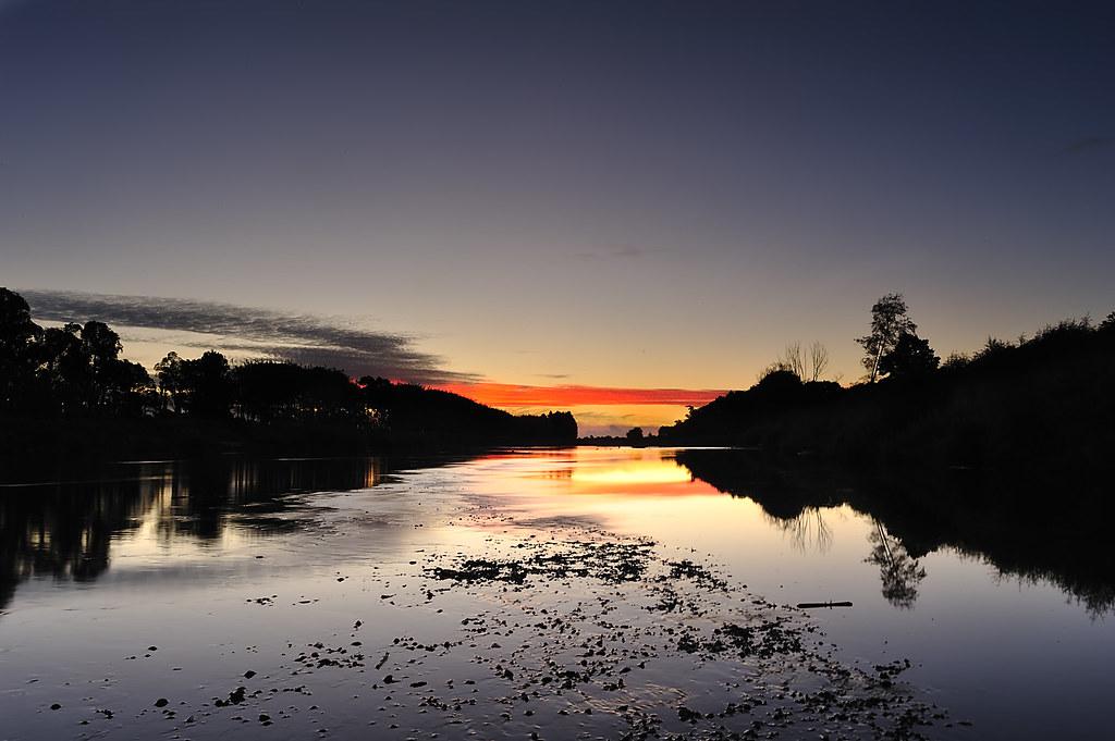 Manawatu River during sunset (Part 2)