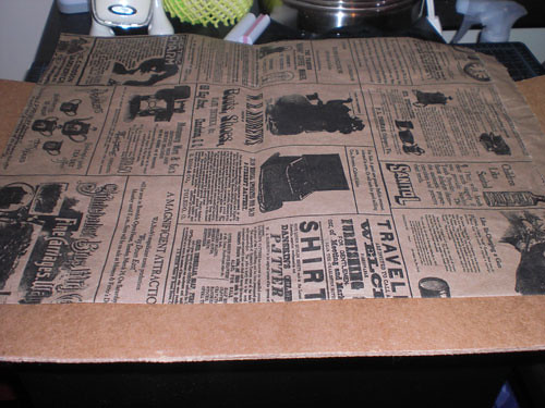 Step 4: Use some decorative paper or newspaper!
