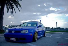 Mr Euro's Anniversary (sparkyvw) Tags: blue winter vw golf volkswagen jazz daytona jam lm bbs mk4 airride worldcars