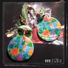 MCFIMC orecchini conchiglia fiori multicolore ventaglio cloisonne flowers fashion earrings