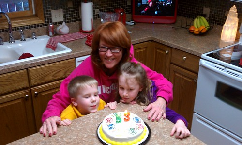2011-02-28 Sledding on Grandma Penni's Birthday