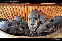 Sea Of Faces (Yisra'el (busy)) Tags: travel faces philippines elnido palawan artscafe wallhangs souvenirsm
