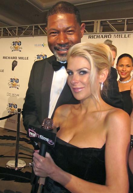 Dennis Haysbert, Jennifer Lexon, Night of 100 Stars Oscar Party 2011